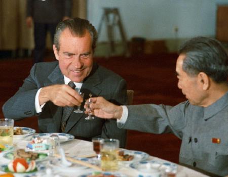 President Nixon Toasts PRC Premier Zhou Enlai
