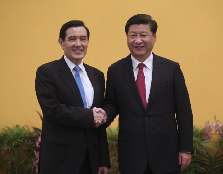 Former Taiwan President Ma Ying-jeou meets PRC president Xi Jingping