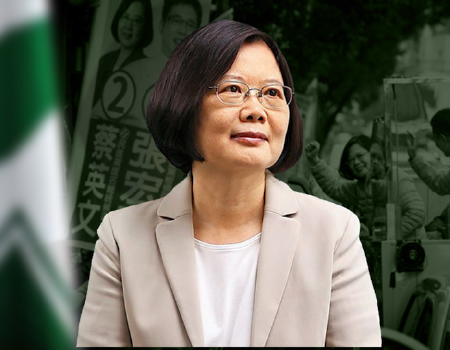 Composite image of Taiwanese President Tsai Ying-wen